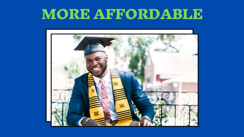 College is more affordable.