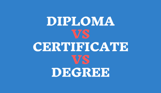 The Differences Between a Diploma, a Degree, and a Certificate