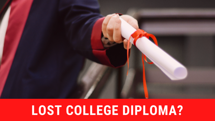 Have you lost your college diploma: here's what you should do!
