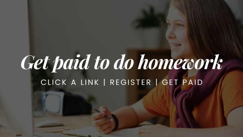 Get paid to do homework for others.