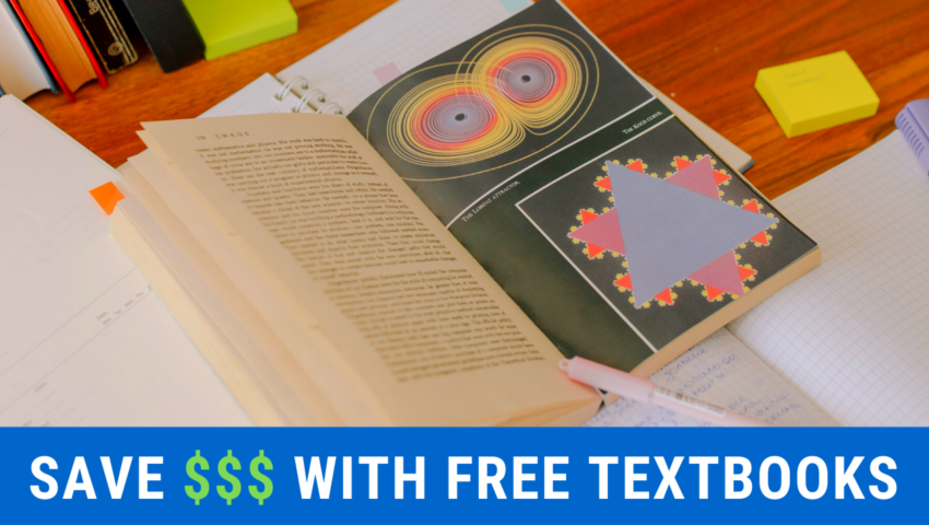 Free college textbooks: a great way to save money.