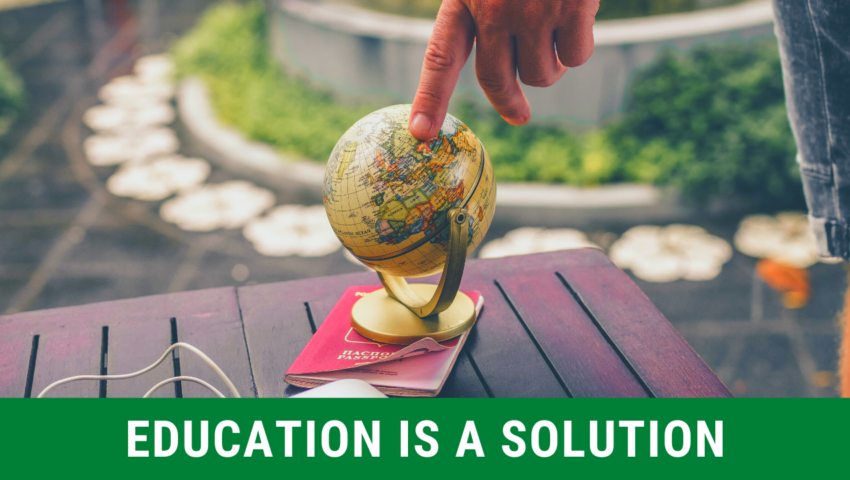 Reason 5: education is a solution.