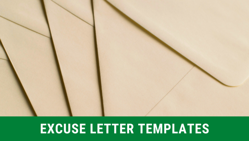 Templates of excuse notes and excuse letters for school absence