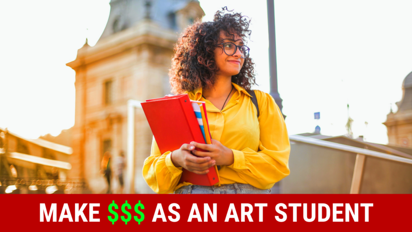 Learn how to make money as an art student by working these student jobs!