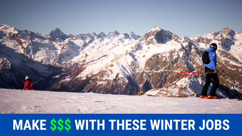 Make money with these winter jobs for college sutdents.