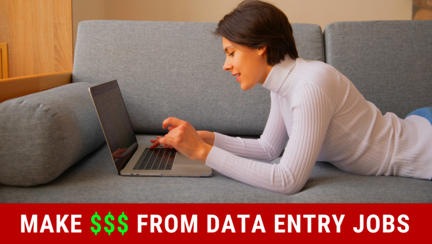 How to make money from data entry.
