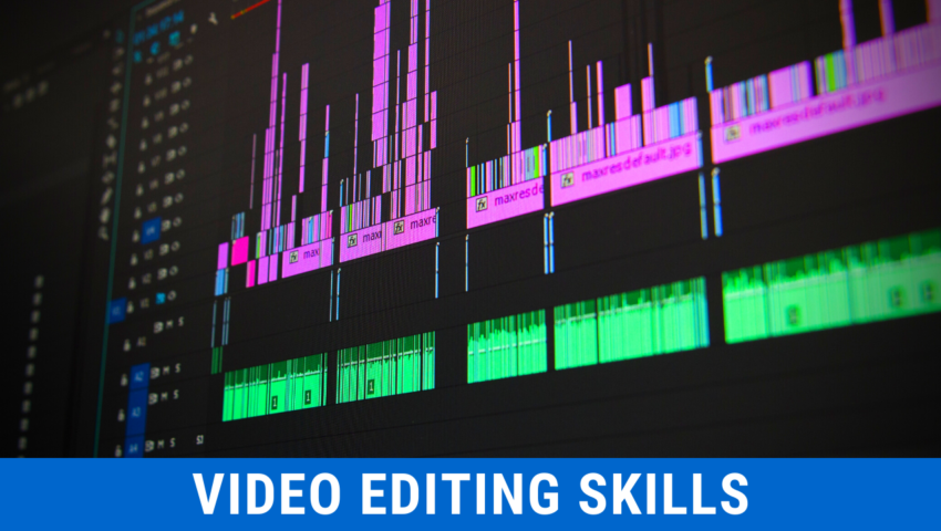In this section, I will tell you the video editing skills you need to master.